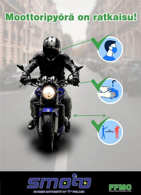 Moottoripyörä on ratkaisu!